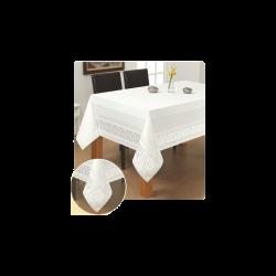 """Tefloninė staltiesė """"Ramunėlės"""", balta"""