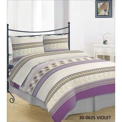 Violetinės spalvos medvilnės patalynės komplektai internetu