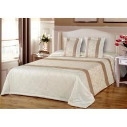 Prabangios dekoratyvinės lovatiesės karališko dydžio lovai. Dekoratyvinė lovatiesė kreminės spalvos internetu
